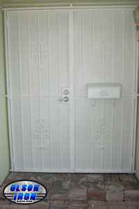Custom Wrought Iron Security Doors And Bars By Olson